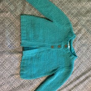 Teal Button Sweater